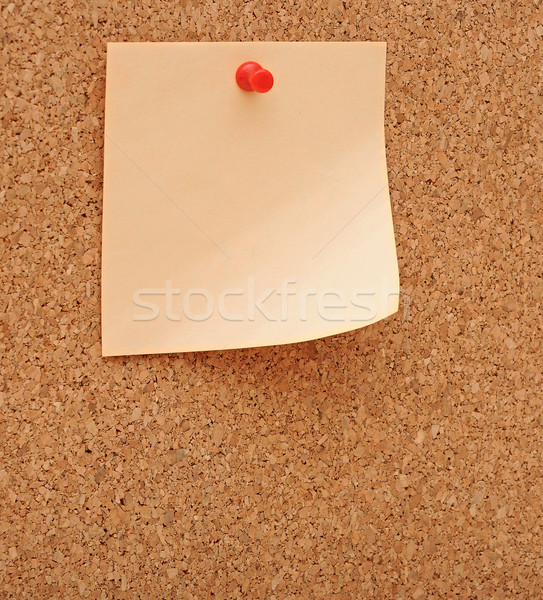 Blank note pinned to corkboard  Stock photo © inxti
