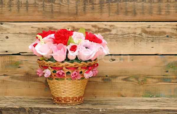 Paper flower in a basket Stock photo © inxti