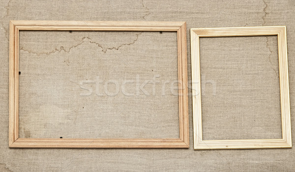 wooden frames on a canvas Stock photo © inxti
