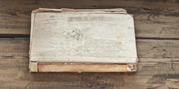 Eski kitap ahşap ahşap okul arka plan eğitim Stok fotoğraf © inxti