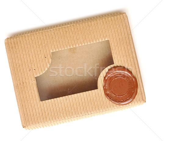 brown box with sealing wax Stock photo © inxti