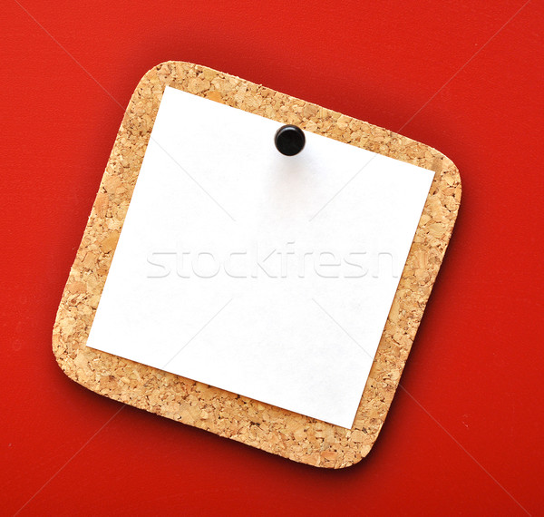 message note on cork board  Stock photo © inxti
