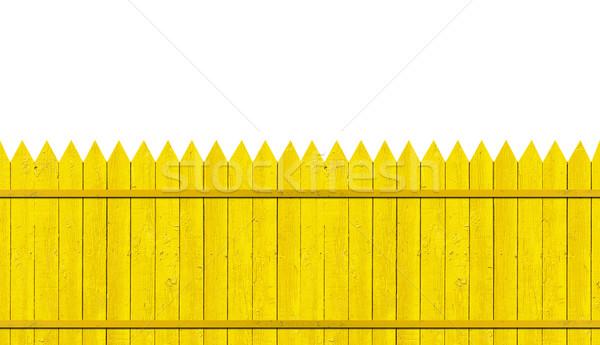 yellow picket fence  Stock photo © inxti