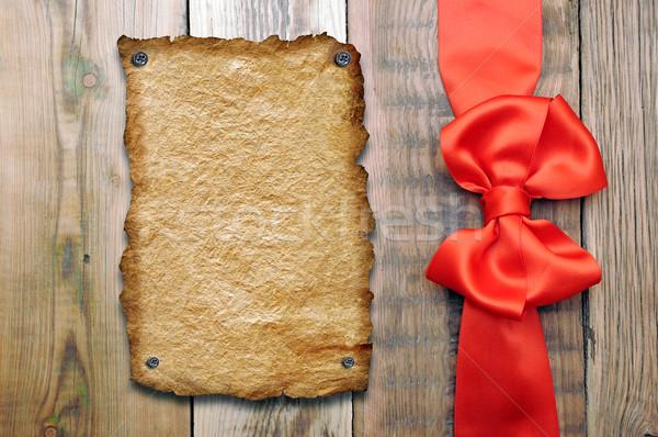 Rood boeg oud papier exemplaar ruimte tekst papier Stockfoto © inxti