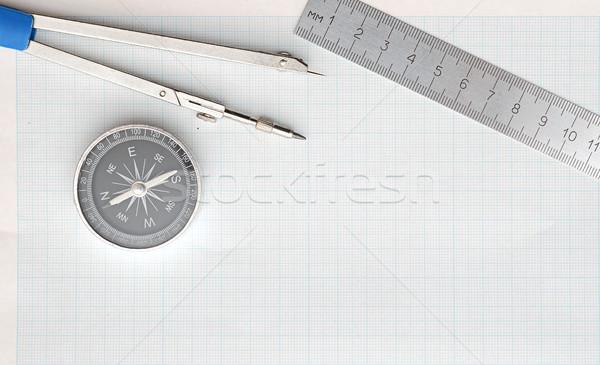 Сток-фото: натюрморт · фото · инженерных · графа · бумаги · карандашом