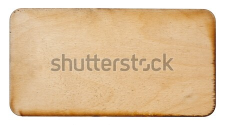 wooden sign isolated on a white background  Stock photo © inxti
