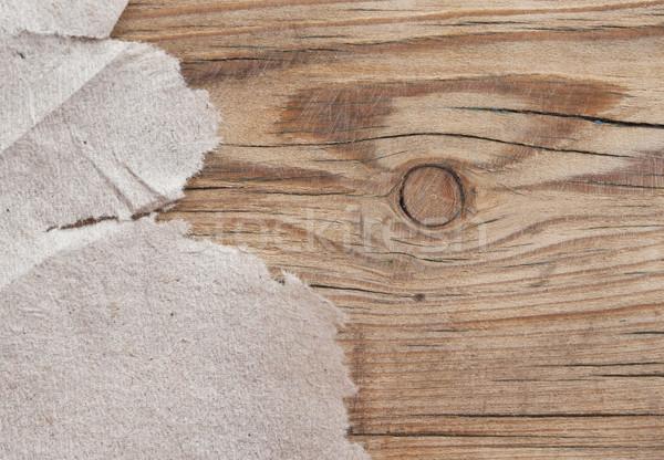 рваной бумаги древесины бумаги фон кадр история Сток-фото © inxti