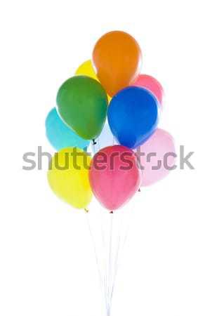 Ballonnen voorraad afbeelding kleurrijk witte Stockfoto © iodrakon