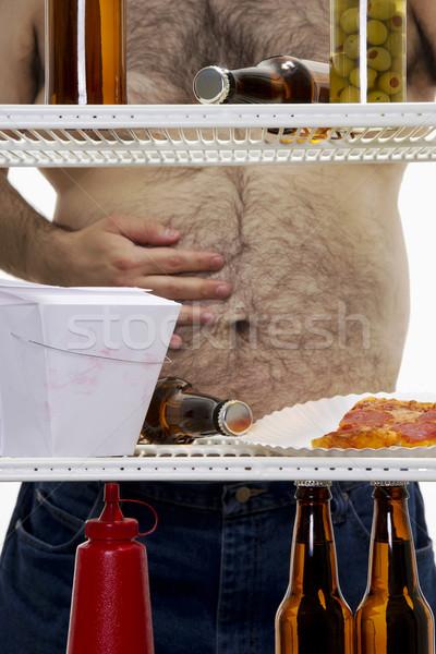 нездоровый жизни складе изображение голодный избыточный вес Сток-фото © iodrakon