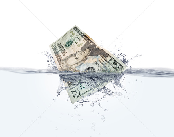Money on water Stock photo © iodrakon