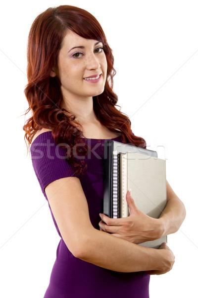 Casuale femminile studente stock immagine bianco Foto d'archivio © iodrakon