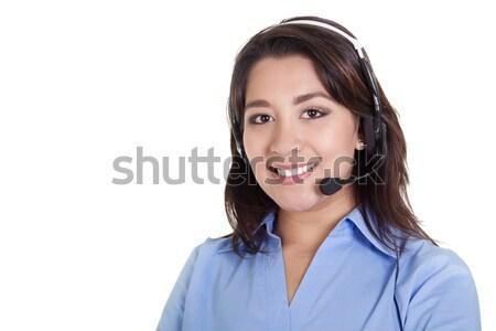 Femminile call center operatore stock immagine isolato Foto d'archivio © iodrakon