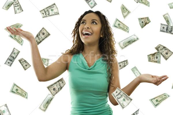 お金 在庫 画像 女性 立って ストックフォト © iodrakon