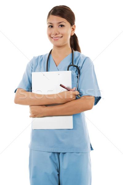 Female healthcare worker Stock photo © iodrakon