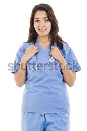 Female healthcare worker Stock photo © iodrakon