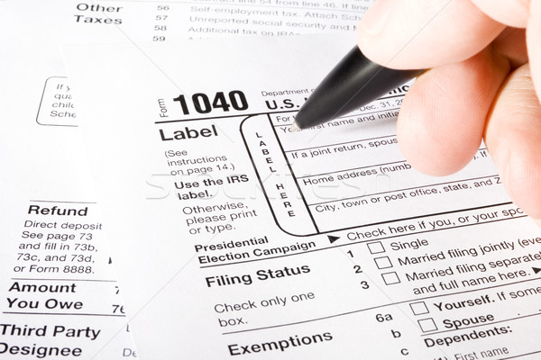 1040 Tax Form Stock photo © iodrakon