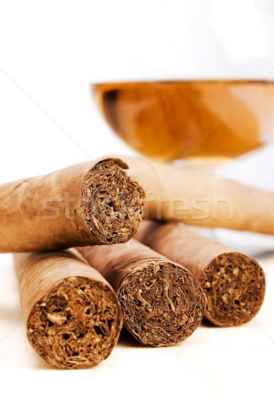 Cigars and Drink Stock photo © iodrakon
