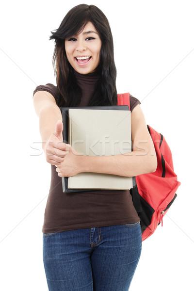 Női főiskolai hallgató stock kép egyetemi hallgató izolált Stock fotó © iodrakon