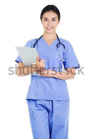 Vrouwelijke gezondheidszorg werknemer voorraad afbeelding gezondheidszorg Stockfoto © iodrakon