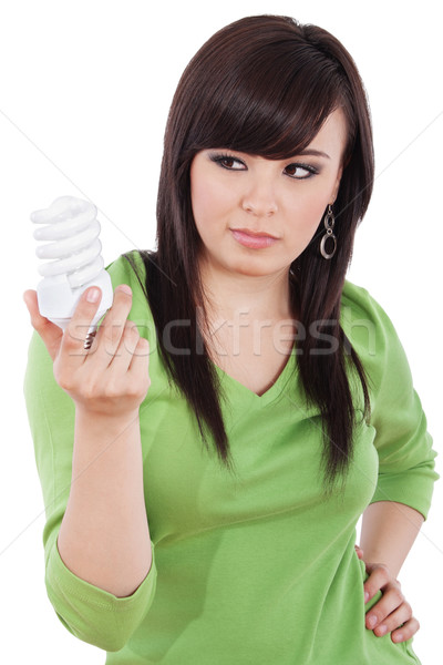 Yeşil stok görüntü kadın enerji Stok fotoğraf © iodrakon
