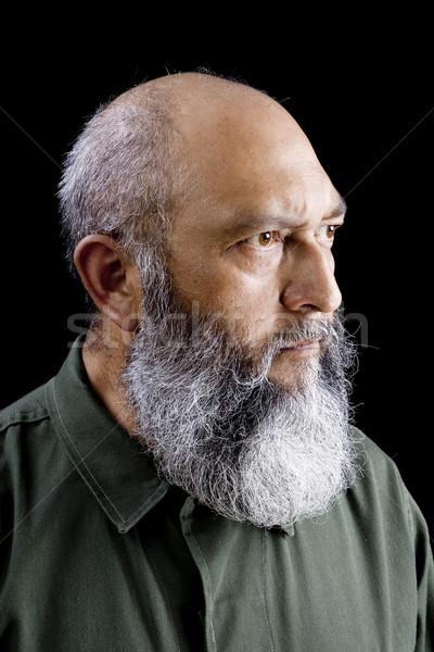 Communist soldaat portret mannelijke lang baard Stockfoto © iodrakon