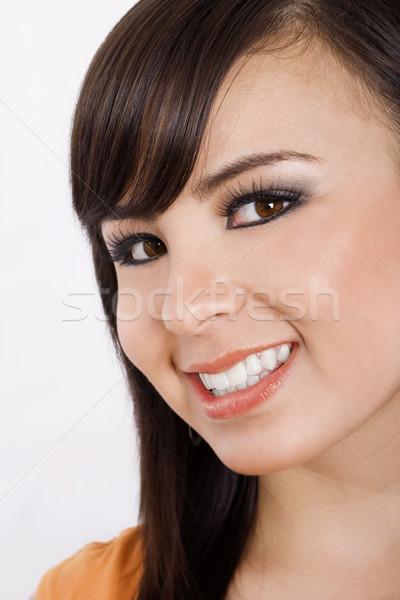 Ragazza felice stock immagine primo piano felice sorridere Foto d'archivio © iodrakon