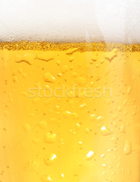 Closeup of beer Stock photo © iodrakon