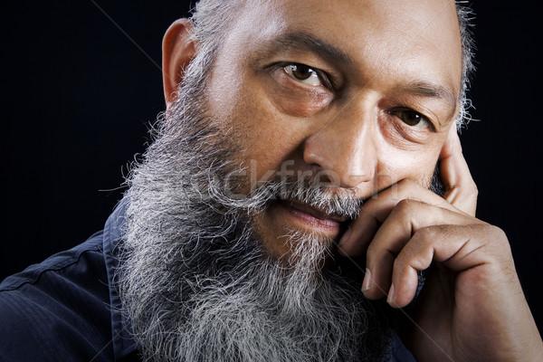 男性 肖像 在庫 画像 男 長い ストックフォト © iodrakon