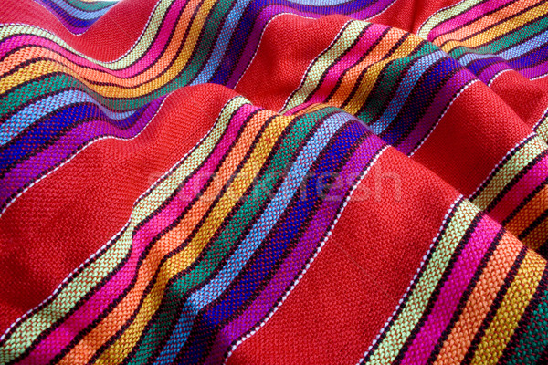 Stock photo: Mexican traditional fabric