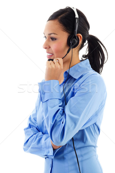 Stock photo: Female call center operator