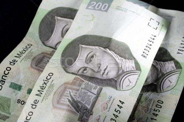 Mexican soldi primo piano tre due cento Foto d'archivio © iodrakon