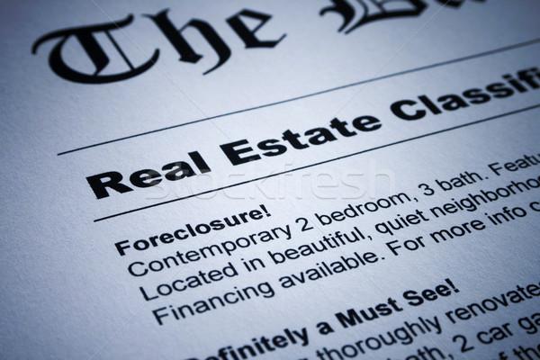 Real Estate ads on Newspaper Stock photo © iodrakon