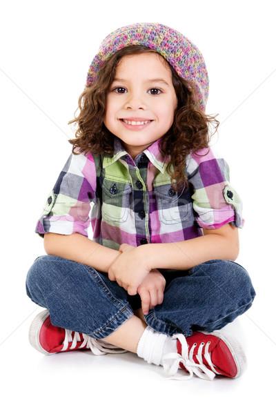 Voorraad afbeelding gelukkig vrouwelijke Stockfoto © iodrakon