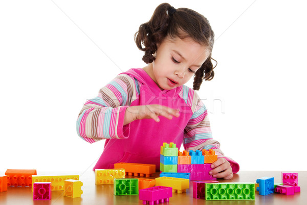 Preschooler playing Stock photo © iodrakon
