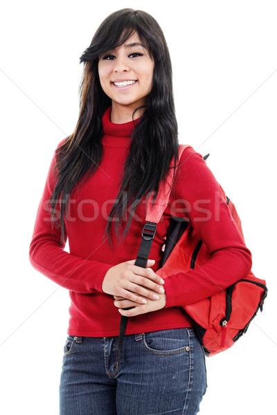 Femminile studente stock immagine isolato bianco Foto d'archivio © iodrakon