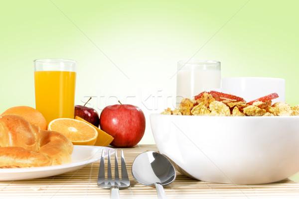 Desayuno luz bambú verde gradiente alimentos Foto stock © iodrakon