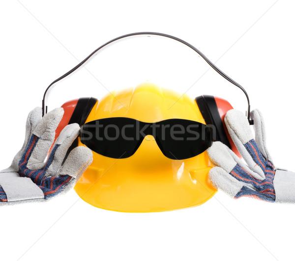 Cool Sicherheit Gang hat Bild tragen Stock foto © iodrakon