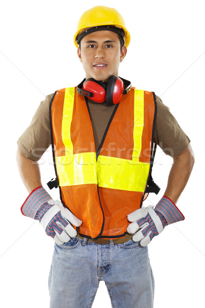 Construction worker Stock photo © iodrakon