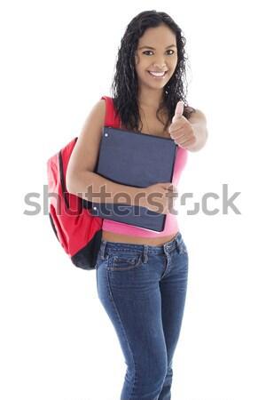 Femminile studente stock immagine giovani bianco Foto d'archivio © iodrakon