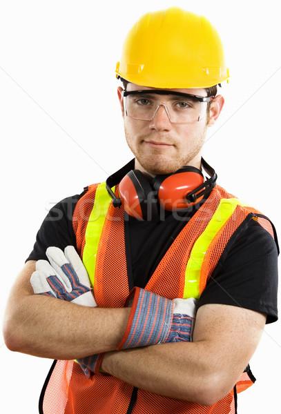 建設作業員 在庫 画像 男性 着用 フル ストックフォト © iodrakon