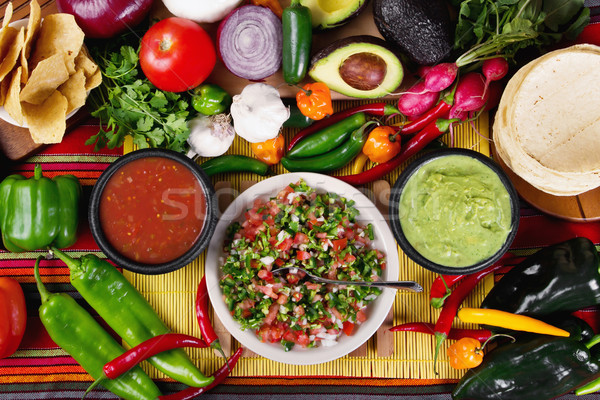 Traditionnel mexican stock image alimentaire Photo stock © iodrakon