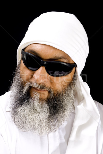 Stock fotó: Hideg · arab · férfi · stock · kép · visel