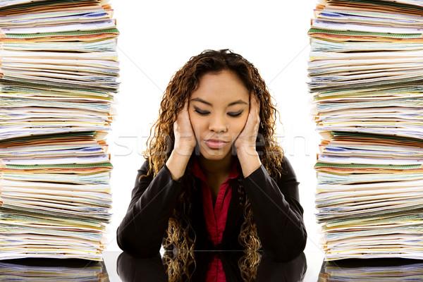 Overworked Woman Stock photo © iodrakon