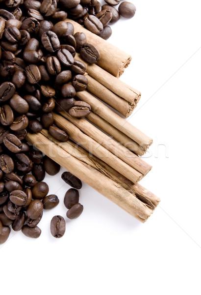 Coffee beans and Cinnamon Stock photo © iodrakon