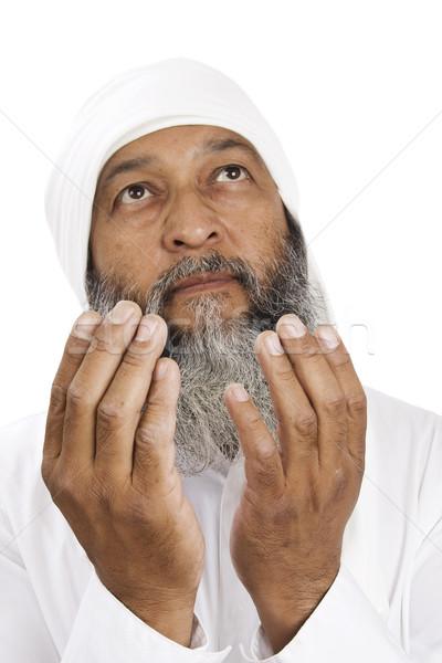 арабских человека молиться складе изображение белый Сток-фото © iodrakon