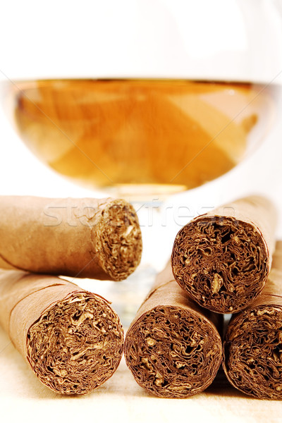 Cigares cognac stock image lumière accent Photo stock © iodrakon
