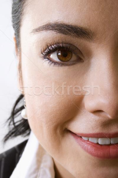 Donna stock immagine faccia donna sorridente Foto d'archivio © iodrakon
