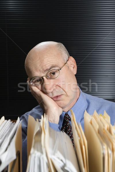 Tired Caucasian businessman. Stock photo © iofoto