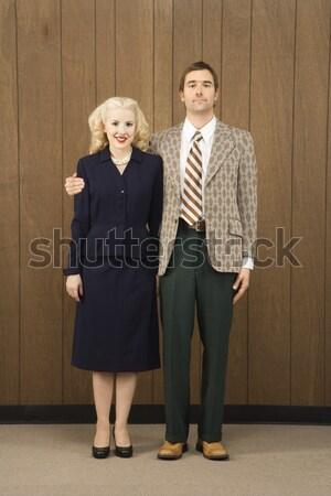 Cirurgião enfermeira caucasiano feminino médico do sexo masculino em pé Foto stock © iofoto