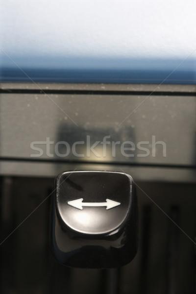 Máquina de escribir flecha clave tipo palanca Foto stock © iofoto